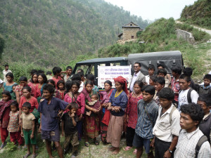 Gruppenfoto mit Dhan Bahadur