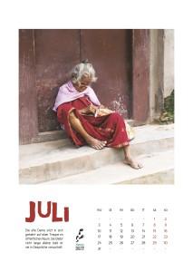 Nepal Kalender 2017 Juli