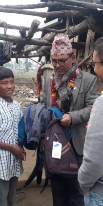 Hilfslieferung nach Chitwan